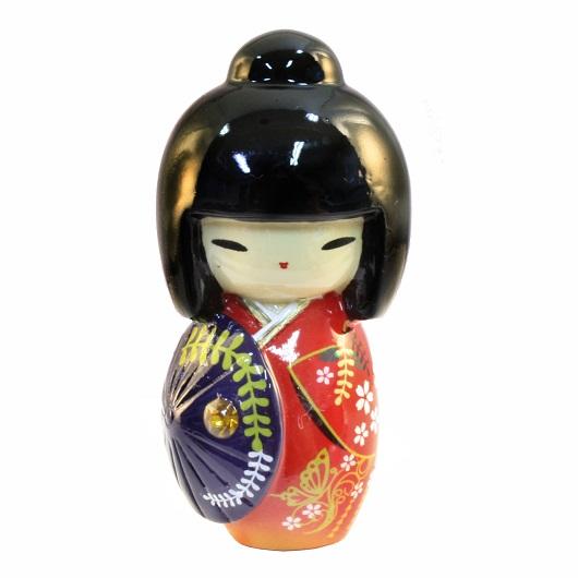 Kokeshi Doll Kasa Red