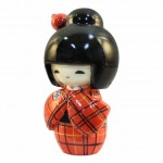 Kokeshi Doll Kasuri Red