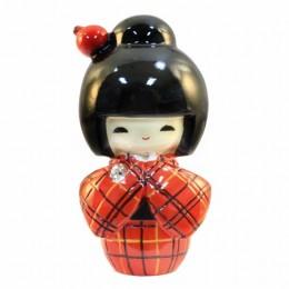 Kokeshi Doll Kasuri Red sample2