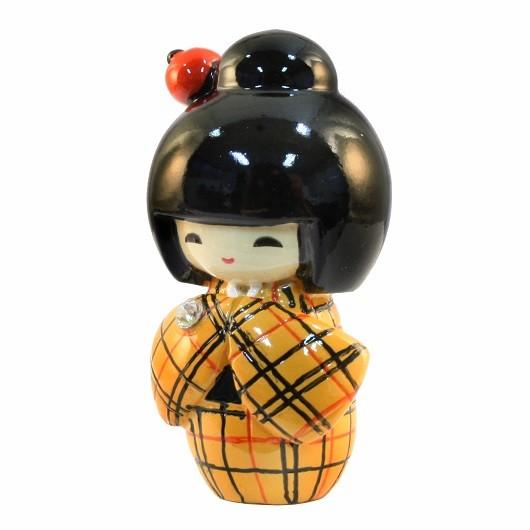 Kokeshi Doll Kasuri Yellow sample1