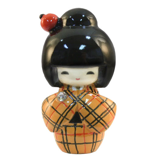 Kokeshi Doll Kosode Yellow