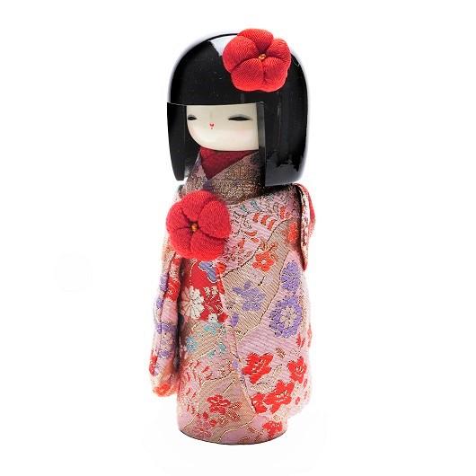 Kokeshi Kyo-Bijin  Kinran(S)Pink