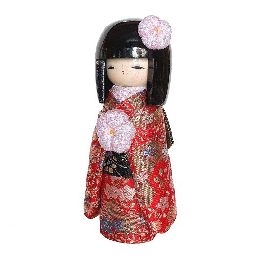 Kokeshi Kyo-Bijin Kinran(S)Red sample1