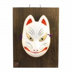 Kabuki Mask Fox with wodden plate (for ornamental)