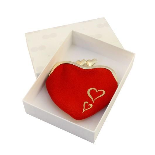 Chirimen Heart-shaped Wallet sample1