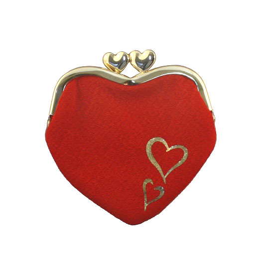Chirimen Heart-shaped Wallet