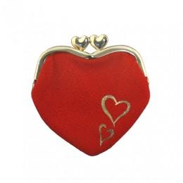 Chirimen Heart-shaped Wallet sample2