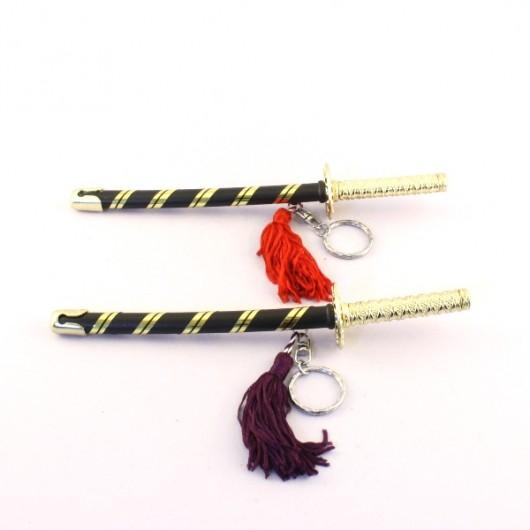 Japanese Sword Keyring (Red or Purple)