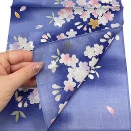 Handkerchief  Kyoto-Yuzen Kinzakura Navy sample2