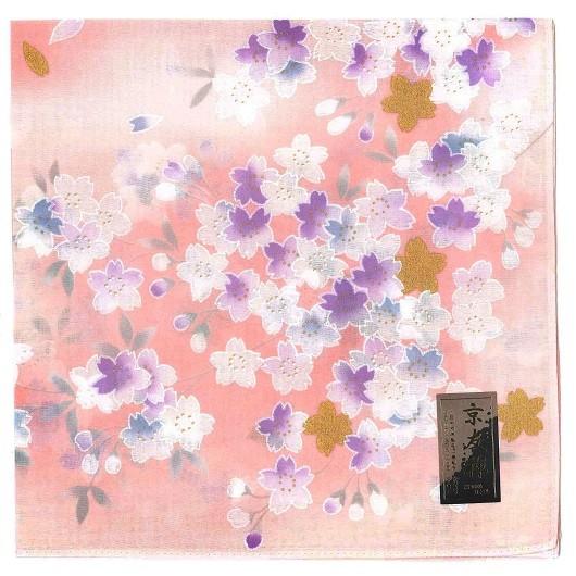 Handkerchief Kyouto-Yuzen 金桜 ピンク sample1