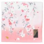 ハンカチ 京友禅 しだれ桜 ピンク