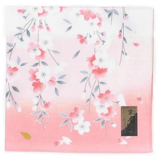 Handkerchief Kyoto-Yuzen Shidarezakura Pink sample1