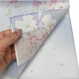Handkerchief Kyoto-Yuzen Sakura Sax Blue sample2