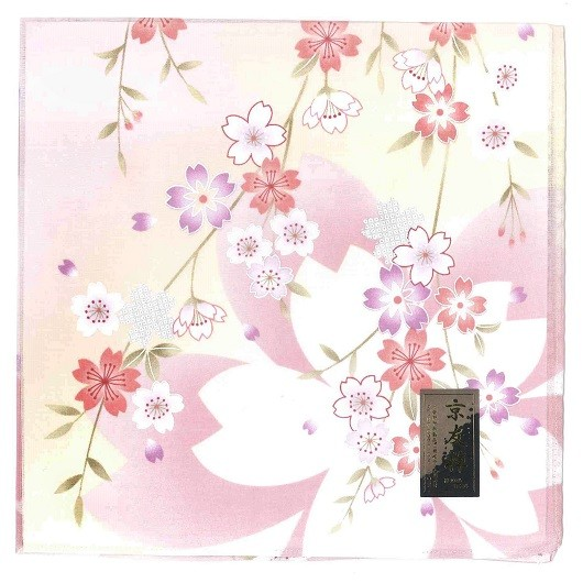 Handkerchief Kyoto-Yuzen Sakura Pink sample1