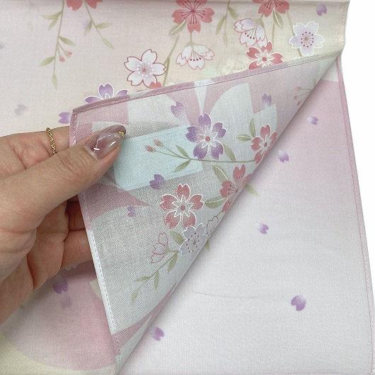 Handkerchief Kyoto-Yuzen Sakura Pink