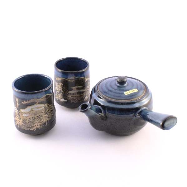 "Tea Pot Set for Two ""Black Flow"""