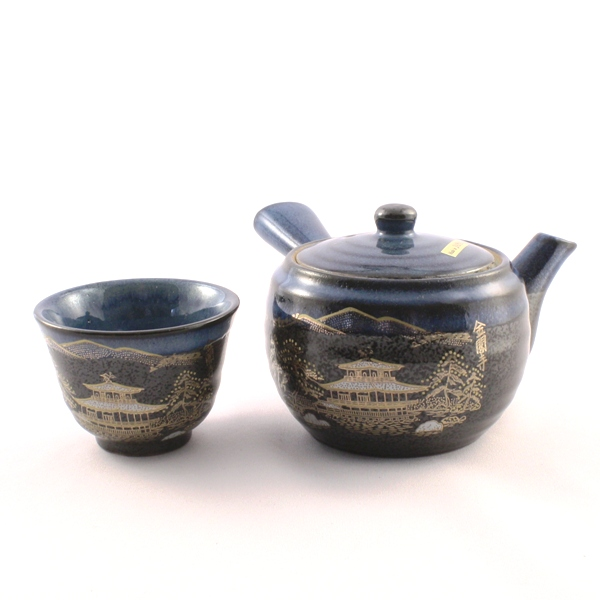 "Tea Pot Set for Five ""Black Flow"""