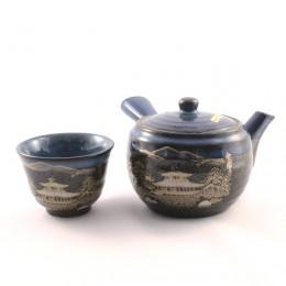 "Tea Pot Set for Five ""Black Flow"""