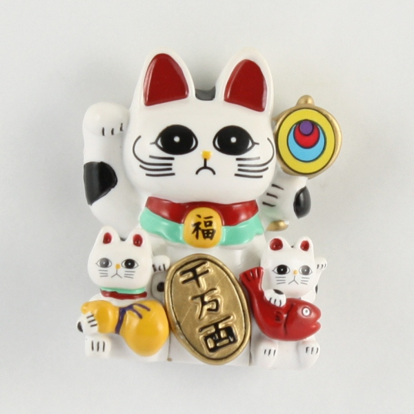 Magnet Lucky Cat (White)