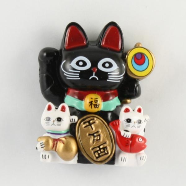 Magnet Lucky Cat (Black)