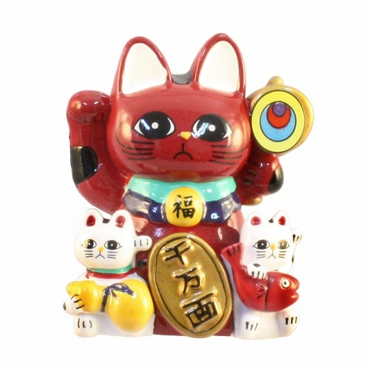 Magnet Lucky Cat (Red)