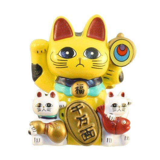 Magnet Lucky Cat (Yellow) sample1