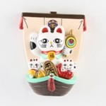 Treasure Ship Lucky Cat White