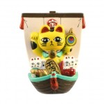Magnet Treasure Ship Lucky Cat Yellow