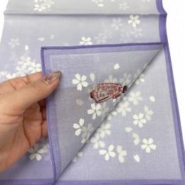 "Handkerchief ""Flower Hairpin"" Purple sample2"