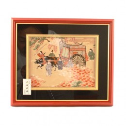 """Framed Picture """"Oxcart"""""""