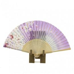 Folding Fan Sakura Purple sample2