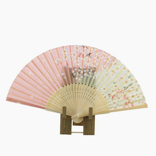 Folding Fan Sakura Pink